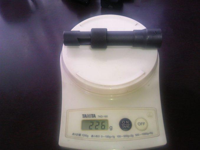 SPRタイプフラッシュハイダーの重量