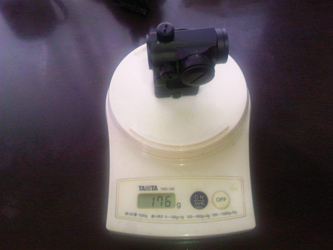 DYTAC T-1タイプドットサイト 重量