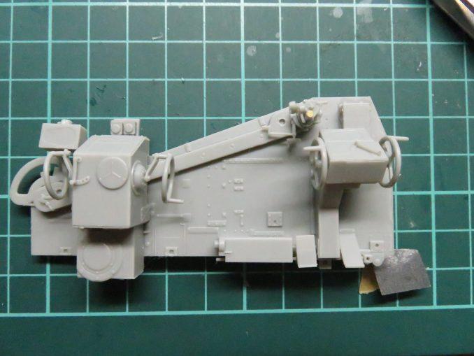 Flak41 砲架右側 射撃管制装置の組み立て15