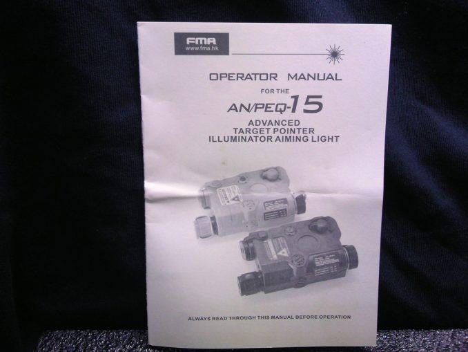 FMA PEQ-15 取り扱い説明書