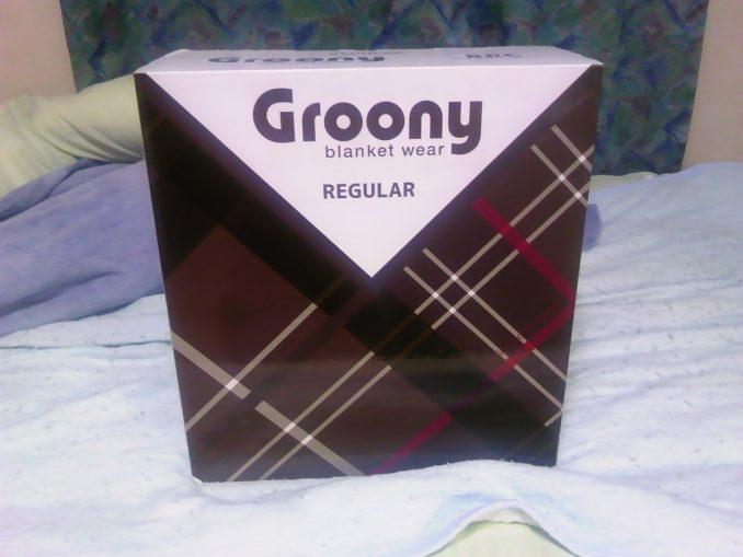 着る毛布「Groony」 箱