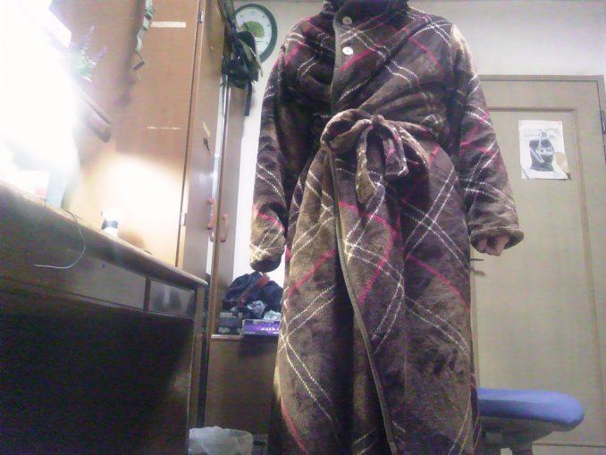 着る毛布「Groony」 試着
