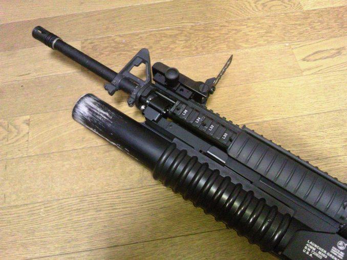 M16A4に装着したリーフサイト フロント部分
