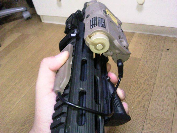 M4とPEQ-15 フロント部分 スイッチ