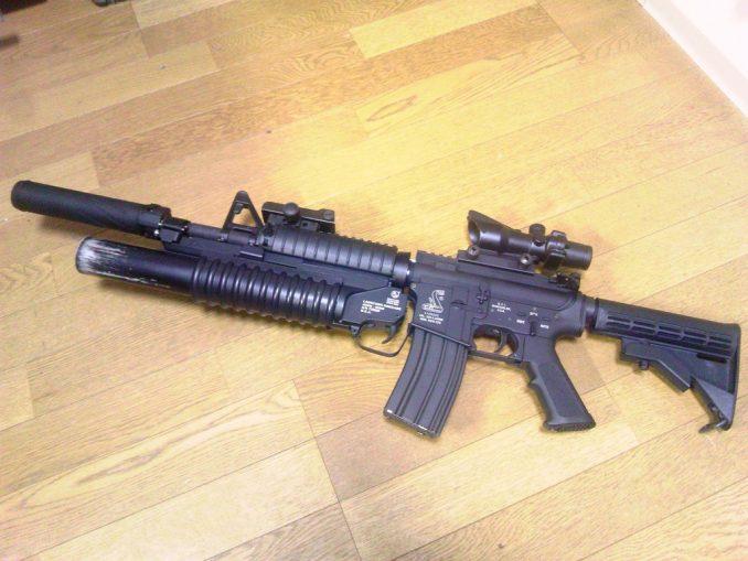 M4A1 M203&リーフサイト装着