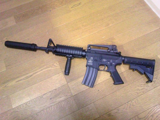 M4A1 QDサプレッサー装着2