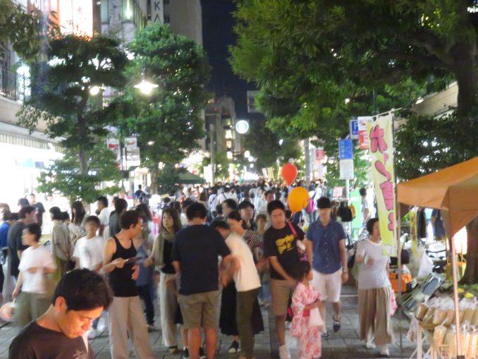 静岡夏まつり夜店市 混雑