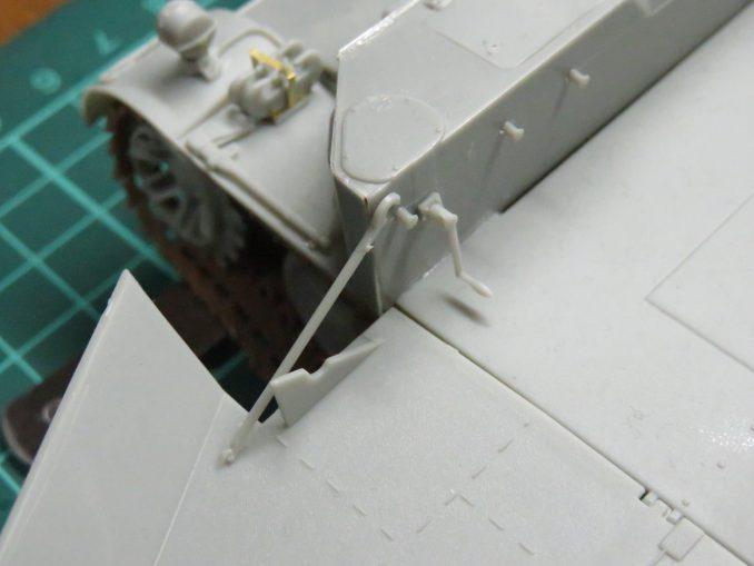 フラックワーゲン 装甲板の仮組み2