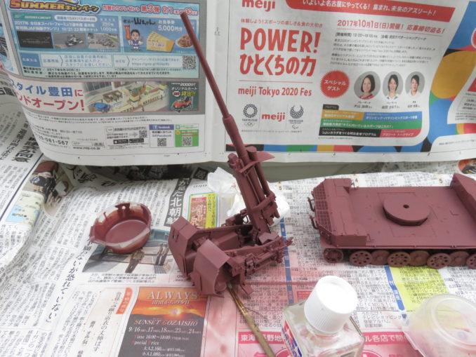 フラックワーゲン サーフェイサー塗装3