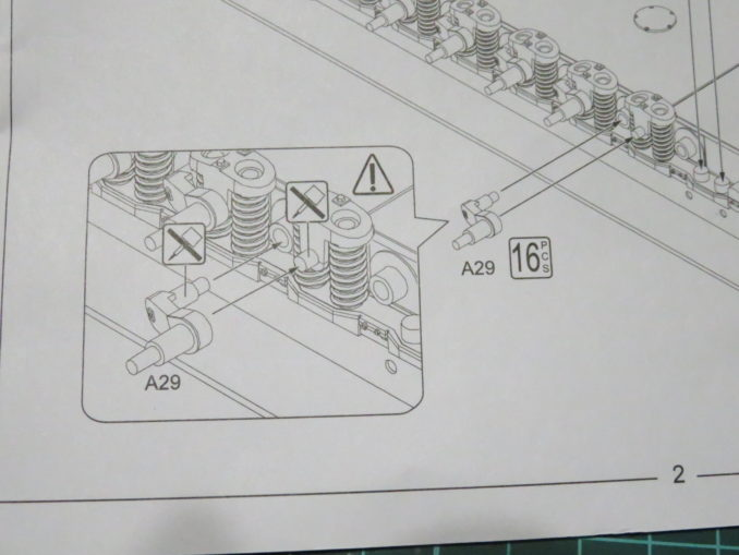 0対空戦車 サスペンションバーは接着しません