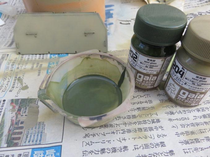 フラックワーゲン 迷彩塗装 オリーブグリーン