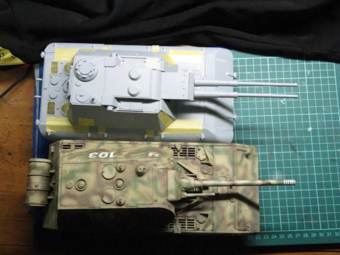 超重戦車マウスとE-100対空戦車
