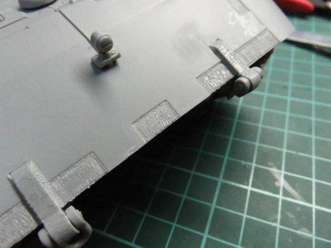 E-100 対空戦車 装甲板の断面のディテールアップ4