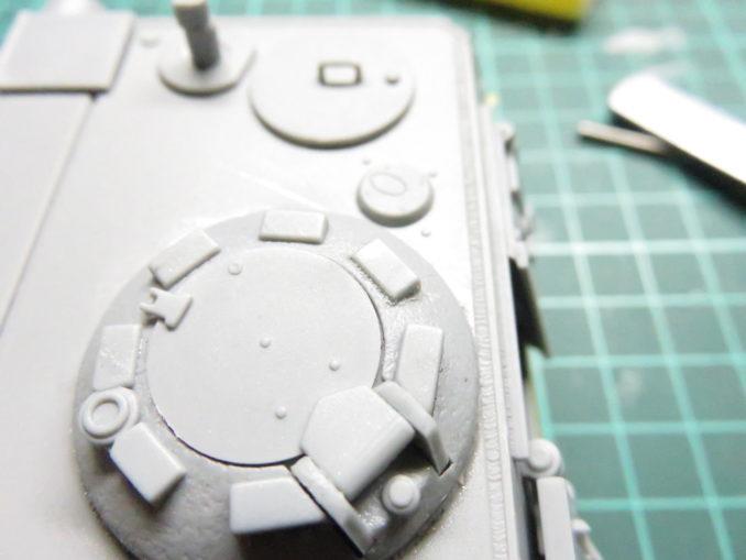 E-100 対空戦車 キューポラのペリスコープの溶接跡