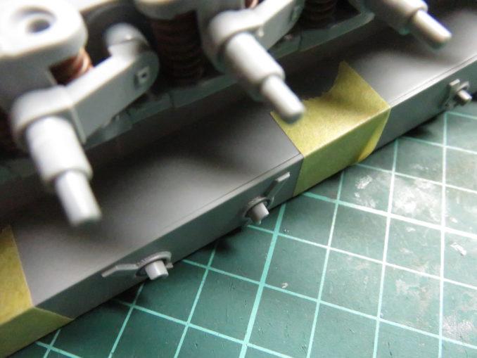E-100対空戦車 上下車体の結合 仮組み