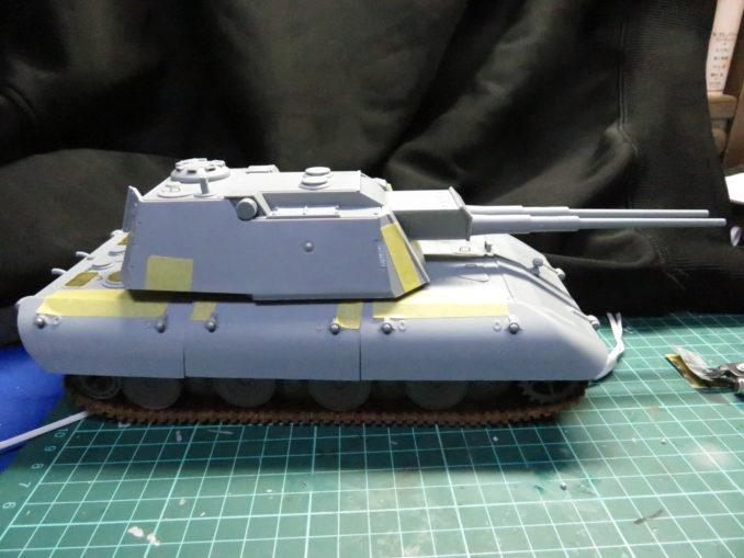 E-100 対空戦車 車体と砲塔の合体