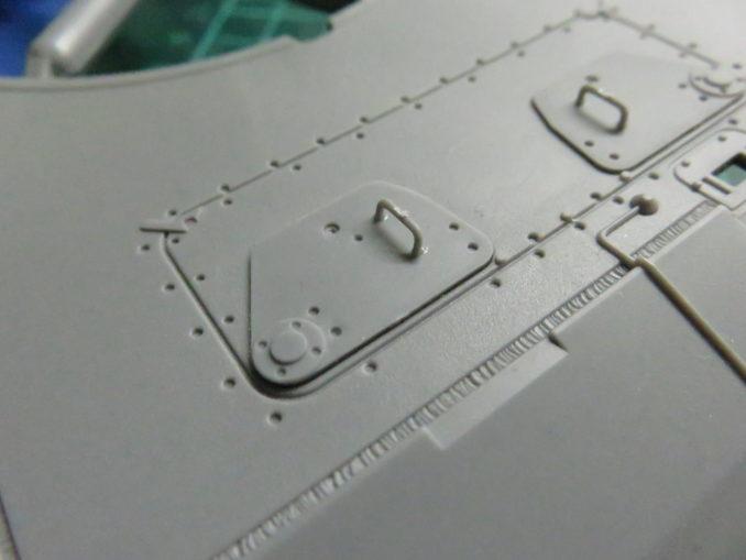 E-100対空戦車 操縦手・通信手のハッチ