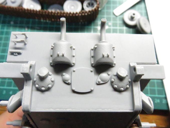 E-100対空戦車 リアパネルの取り付け2