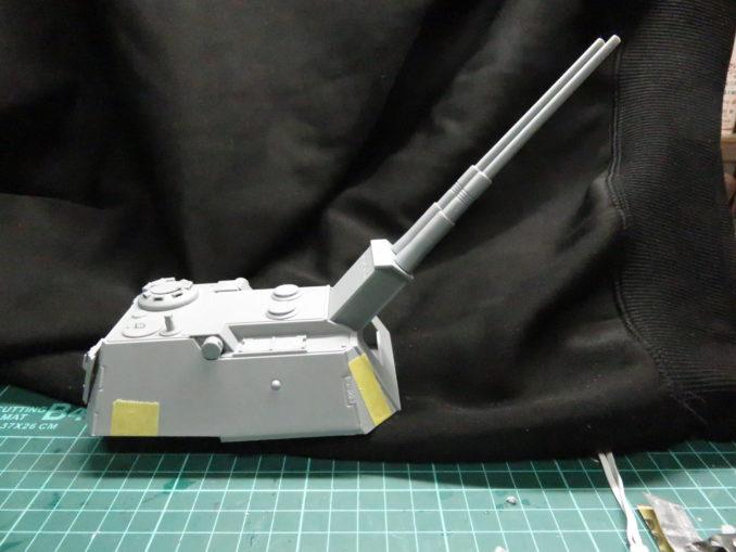 E-100対空戦車 砲塔の完成