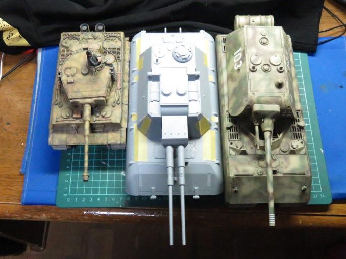 超重戦車マウスとE-100対空戦車とティーガーI