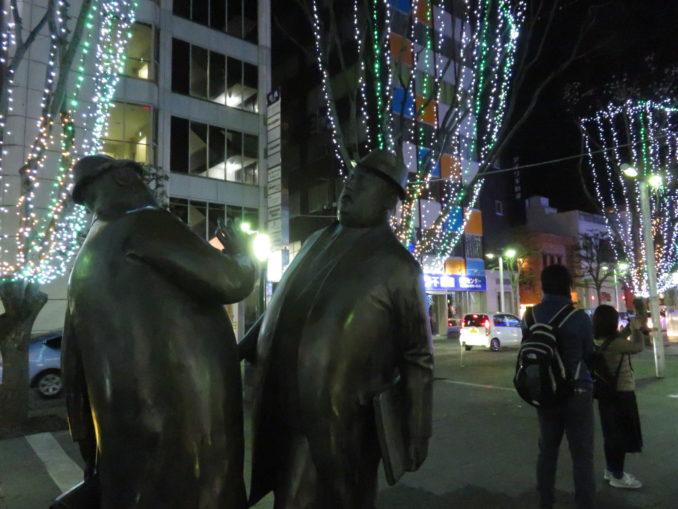 青葉シンボルロードの銅像 2017年12月24日