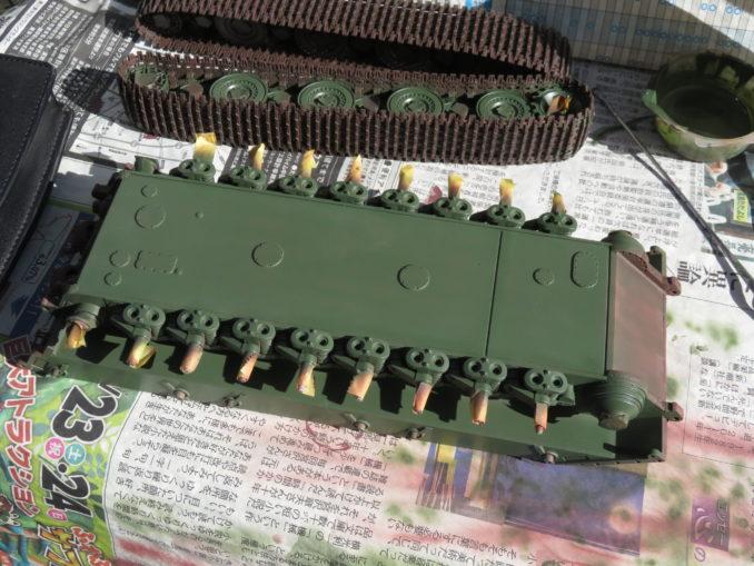 E-100対空戦車 車体下部の基本塗装