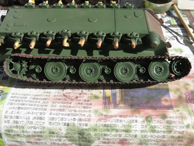 E-100対空戦車 転輪の基本塗装