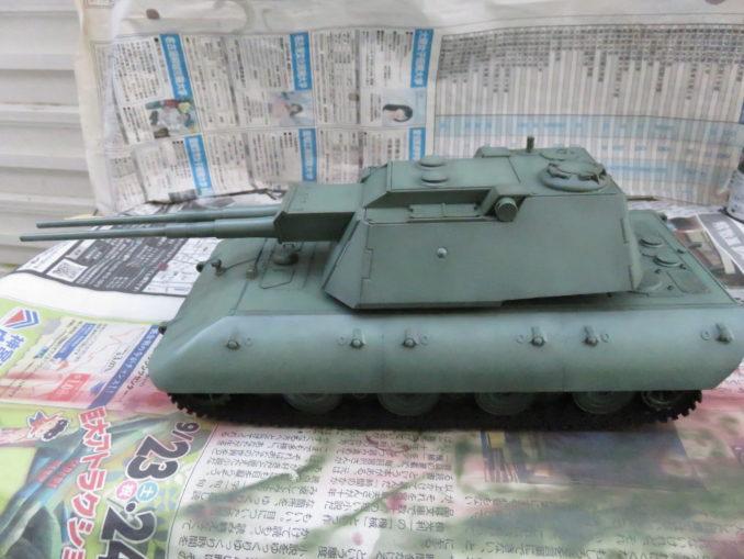 E-100 対空戦車 車体の基本塗装 ハイライト塗装