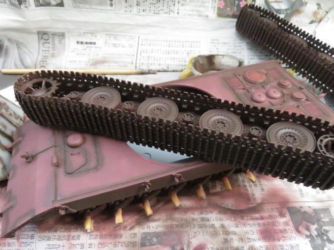 E-100 対空戦車 足回りの下地塗装