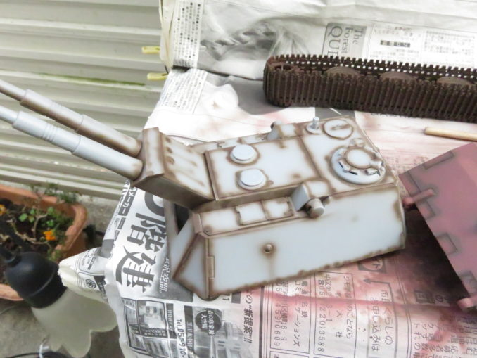 E-100 対空戦車 砲塔の下地塗装
