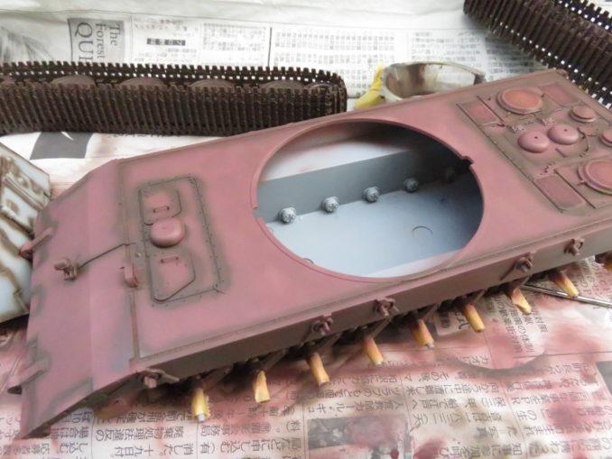 E-100 対空戦車 車体の下地塗装