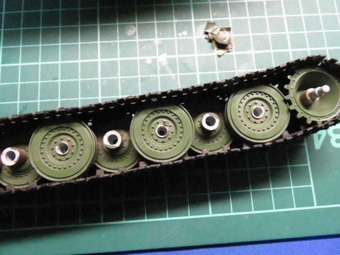 E-100対空戦車 マスキングテープを剥がす