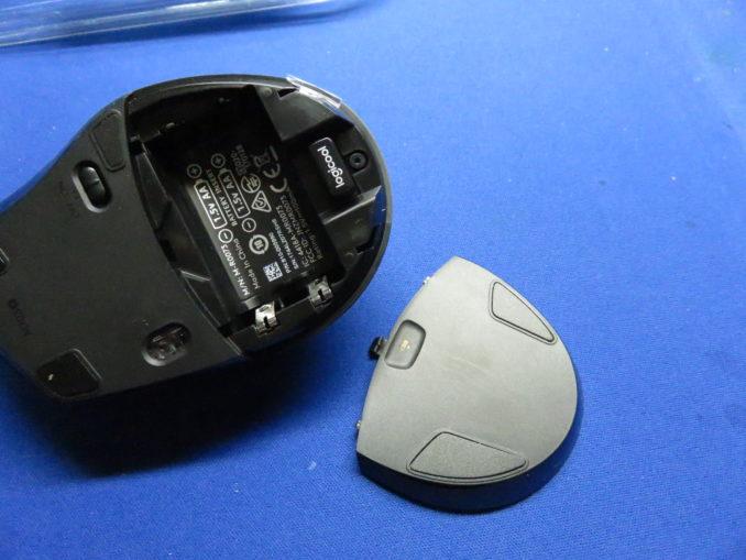 ロジクール マラソンマウス M705m セットアップ 電池を入れる