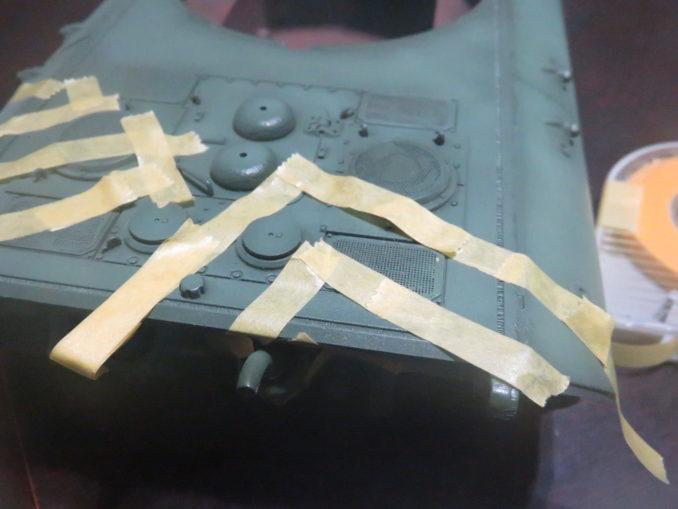 E-100 対空戦車 ストライプ迷彩 マスキング2