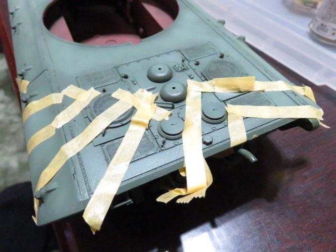 E-100 対空戦車 ストライプ迷彩 マスキング