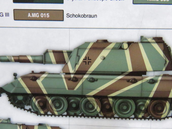 E-100 対空戦車のデカールサンプル