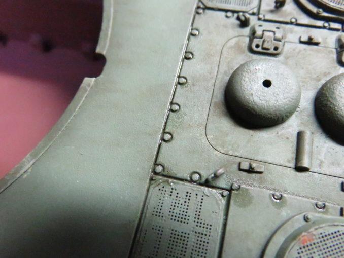 E-100 対空戦車 スミ入れ2