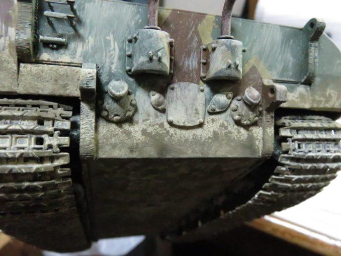 E-100 対空戦車 車体下部の泥汚れ6