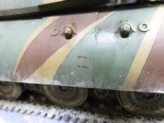 E-100 対空戦車 サイドスカートの泥汚れ