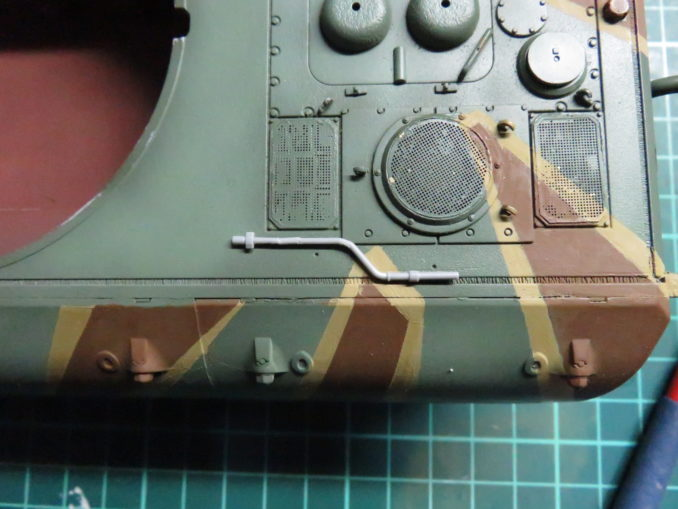 E-100 対空戦車 OVMの取り付け エンジン始動クランクの仮置き