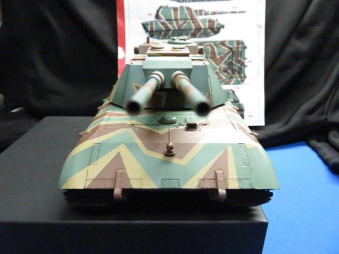 E-100 対空戦車 ストライプ迷彩の完成4