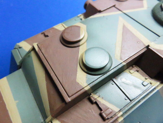 E-100 対空戦車 ストライプ迷彩 砲塔のダークイエロー塗装4