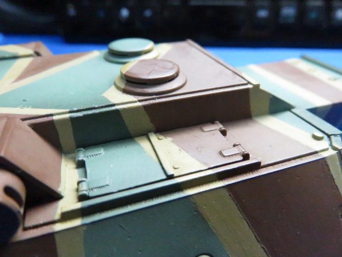 E-100 対空戦車 ストライプ迷彩 砲塔のダークイエロー塗装5