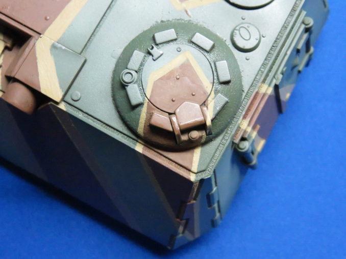 E-100 対空戦車 ストライプ迷彩 砲塔のダークイエロー塗装6