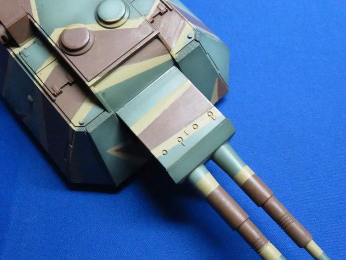 E-100 対空戦車 ストライプ迷彩 砲塔のダークイエロー塗装7