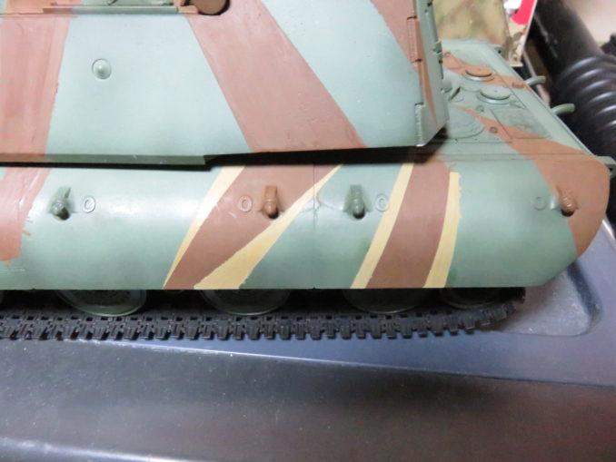 E-100 対空戦車 ストライプ迷彩(ダークイエロー) 車体側面の塗装5