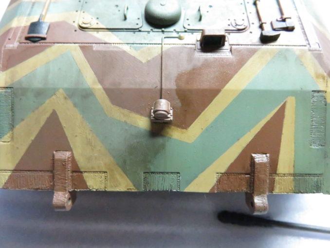 E-100 対空戦車 ウォッシング 塗料の拭き取り