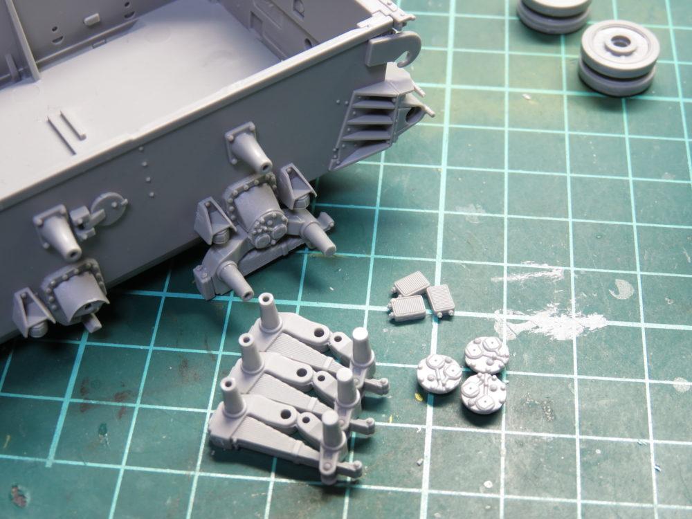 4号戦車 J型(中期) サスペンションアームの組み立て2