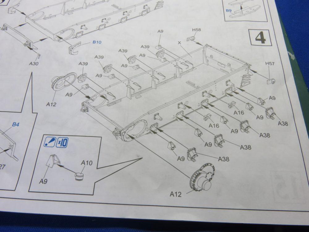 4号戦車 J型(中期) サスペンション基部の取り付け
