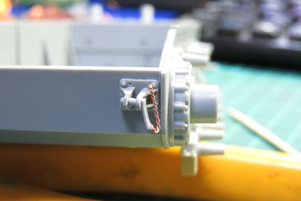 4号戦車 J型(中期)の牽引装置のチェーンを自作